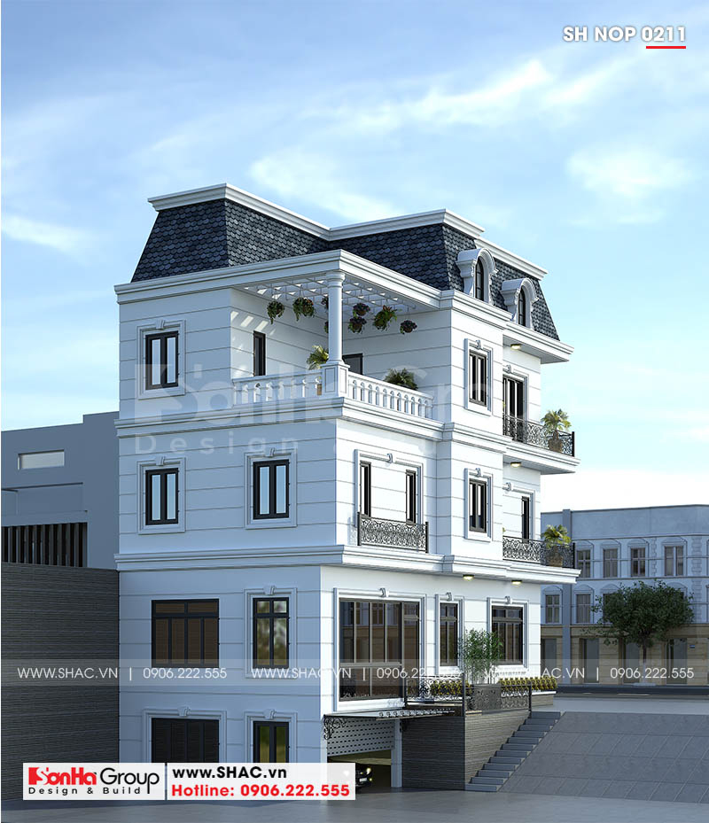 Lối thiết kế linh hoạt giúp ngôi nhà ống bán biệt thự 3 tầng thêm ấn tượng