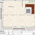 5 Bản vẽ tầng 2 biệt thự tân cổ điển pháp mặt tiền 13m tại hà nội sh btp 0156
