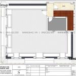 7 Bản vẽ tầng áp mái biệt thự tân cổ điển 3 tầng tại hà nội sh btp 0156