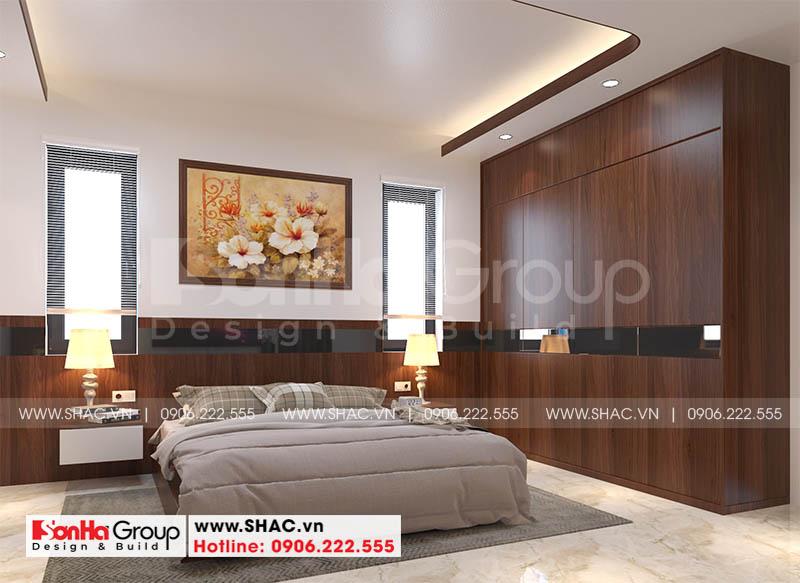 Thiết kế phòng ngủ master ấn tượng với nét tinh tế trong bố trí đồ đạc