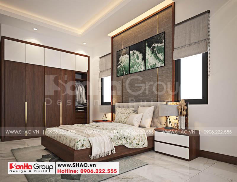 Đây cũng là mẫu phòng ngủ đẹp rất được gia chủ yêu thích