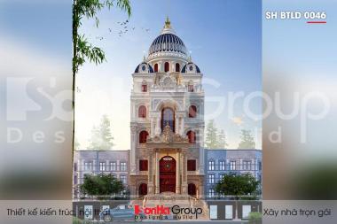 BÌA thiết kế biệt thự lâu đài 5 tầng mặt tiền 10m tại hà nội sh btld 0046