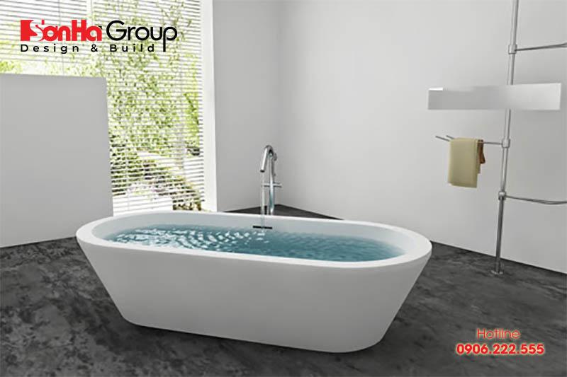 Có nhiều chất liệu khác nhau để làm bồn tắm cho gia chủ lựa chọn