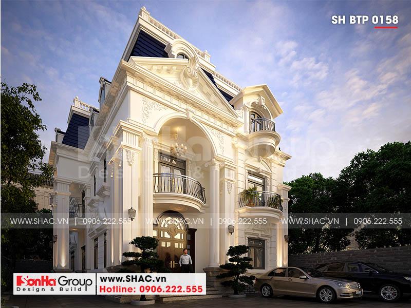 Mẫu biệt thự tân cổ điển 3 tầng thiết kế tối ưu kiến trúc và công năng