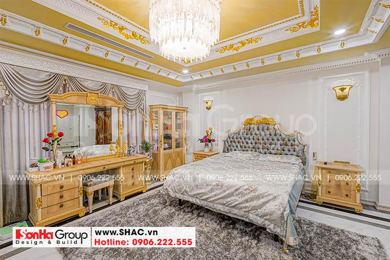 Hình ảnh thực tế phòng ngủ master của biệt thự tân cổ điển đẳng cấp