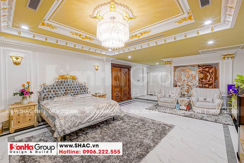 Nội thất phòng ngủ VIP xa hoa với màu sắc nổi bật trang trí đẹp