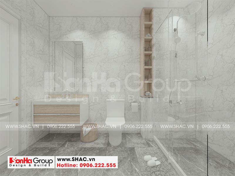 Thiết kế nội thất phòng tắm và vệ sinh sang trọng ấn tượng