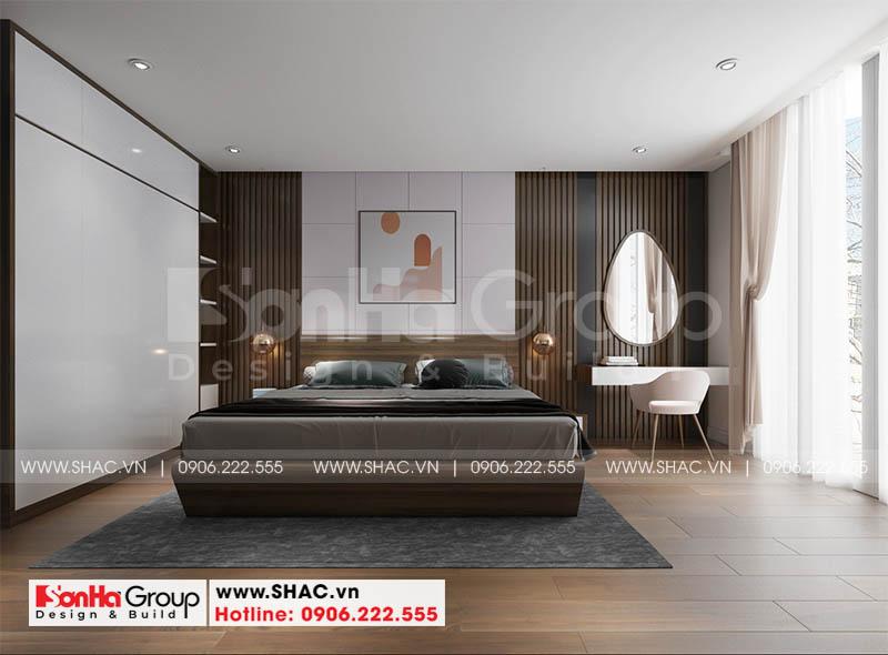 Không gian nội thất phòng ngủ đẹp như phim phong cách hiện đại