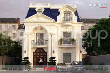 BÌA thiết kế biệt thự tân cổ điển 3 tầng 2 mặt tiền tại đà nẵng sh btp 0158