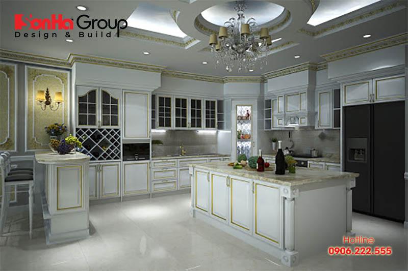 Mẫu trần thạch cao trang trí phòng bếp đón đầu mọi xu hướng