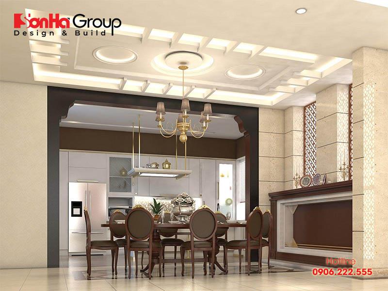 Sử dụng trần thạch cao là giải pháp chống ẩm hiệu quả cho nhà bếp