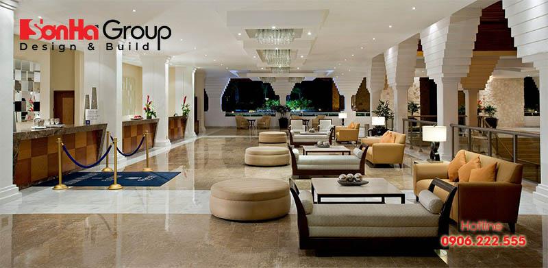 Thiết kế sảnh chờ khách sạn cũng cần đảm bảo những tiêu chí về cái đẹp