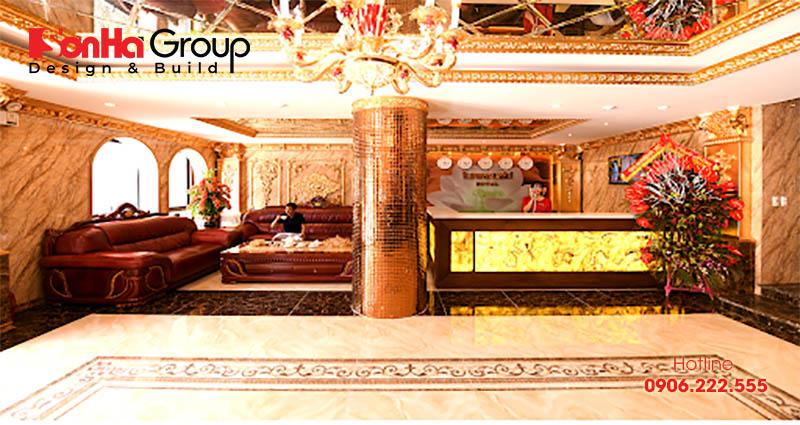 Thiết kế sảnh khách sạn phong cách cổ điển cần thể hiện được sự tinh túy