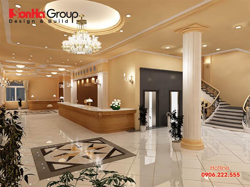Xi măng thường bị hạn chế trong thiết nội thất sảnh khách sạn