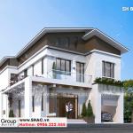 1 Thiết kế biệt thự hiện đại đẹp tại Ninh Bình sh btd 0081