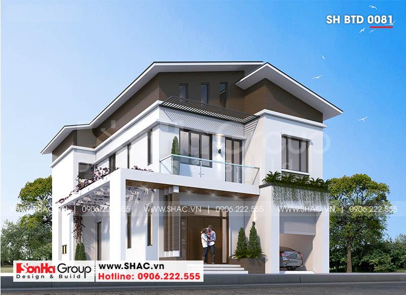 Đổ gục trước thiết kế biệt thự 2 tầng hiện đại 18,3x10,3m tại Ninh Bình – SH BTD 0081 3