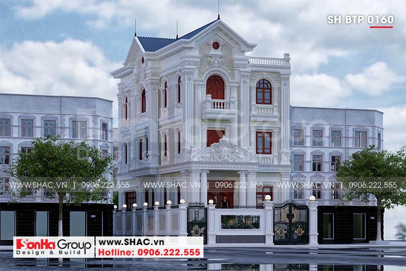 Mãn nhãn mẫu thiết kế biệt thự tân cổ điển Pháp 3 tầng tại Sài Gòn