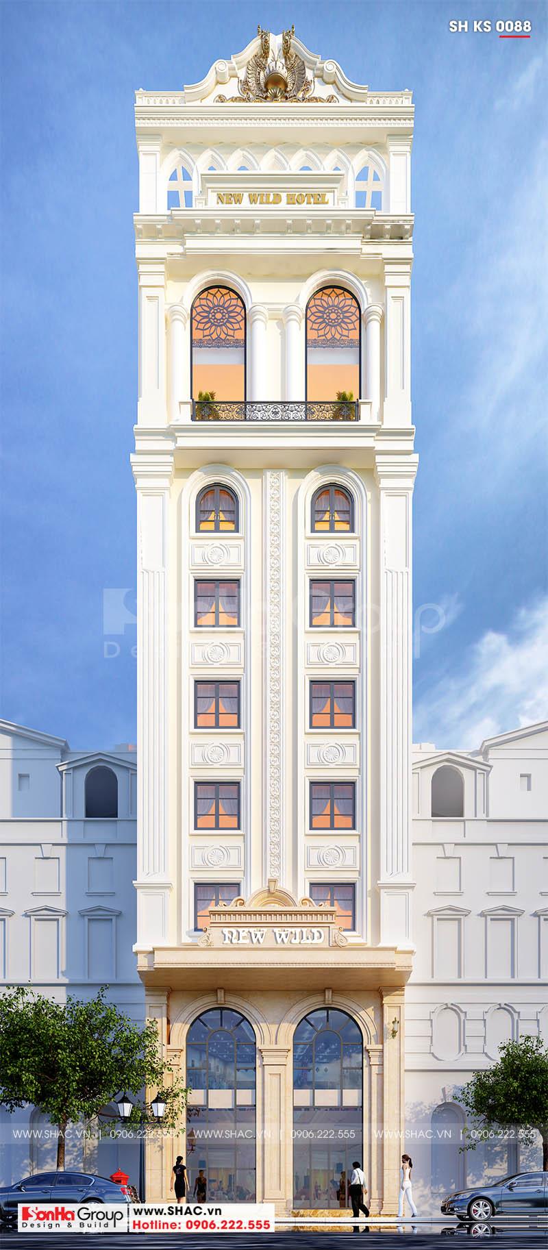 Mẫu khách sạn tân cổ điển tiêu chuẩn 3 sao tối ưu công năng tại Hải Phòng – SH KS 0088 1