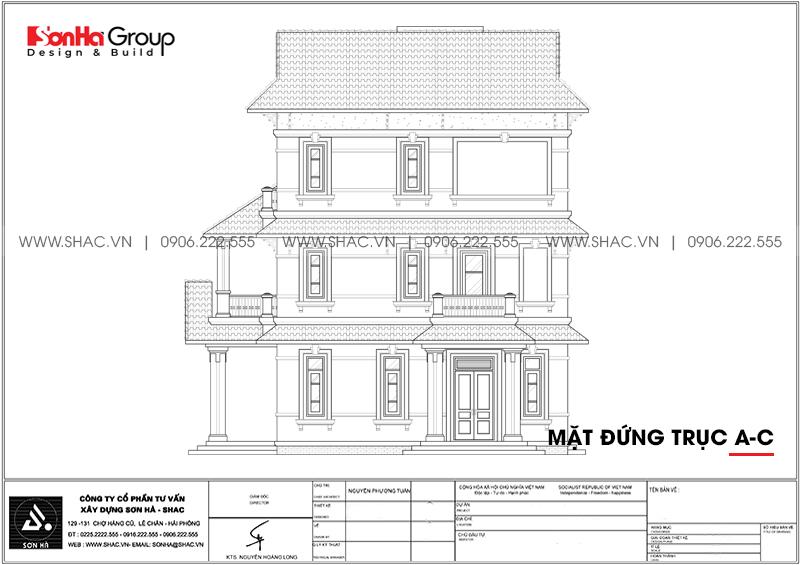 Thiết kế biệt thự song lập 3 tầng hiện đại phát lộc tại Hải Phòng – SH BTD 0080 5