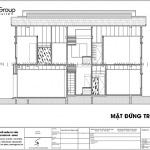 10 Mặt đứng biêt thự hiện đại tại Ninh Bình sh btd 0081