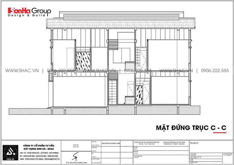 Đổ gục trước thiết kế biệt thự 2 tầng hiện đại 18,3x10,3m tại Ninh Bình – SH BTD 0081 5