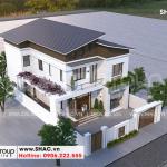 2 Mẫu biệt thự hiện đại 2 tầng tại Ninh Bình sh btd 0081