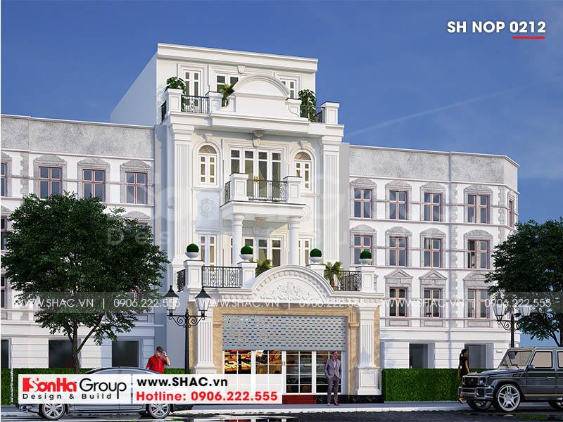 Mặt tiền nhà phố ấn tượng với các đường nét tinh tế và có duyên