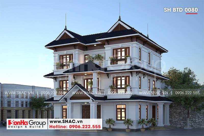 Thiết kế biệt thự song lập 3 tầng hiện đại phát lộc tại Hải Phòng – SH BTD 0080 2