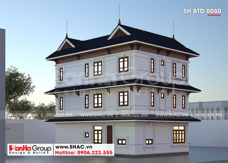 Thiết kế biệt thự song lập 3 tầng hiện đại phát lộc tại Hải Phòng – SH BTD 0080 3