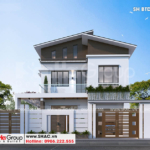 3 Thiết kế biệt thự hiện đại mặt tiền 10,3m tại Ninh Bình sh btd 0081