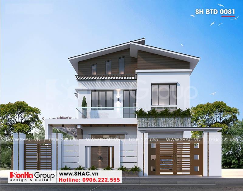 Đổ gục trước thiết kế biệt thự 2 tầng hiện đại 18,3x10,3m tại Ninh Bình – SH BTD 0081 1