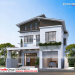 4 Mẫu biệt thự hiện đại có gara Ninh Bình sh btd 0081