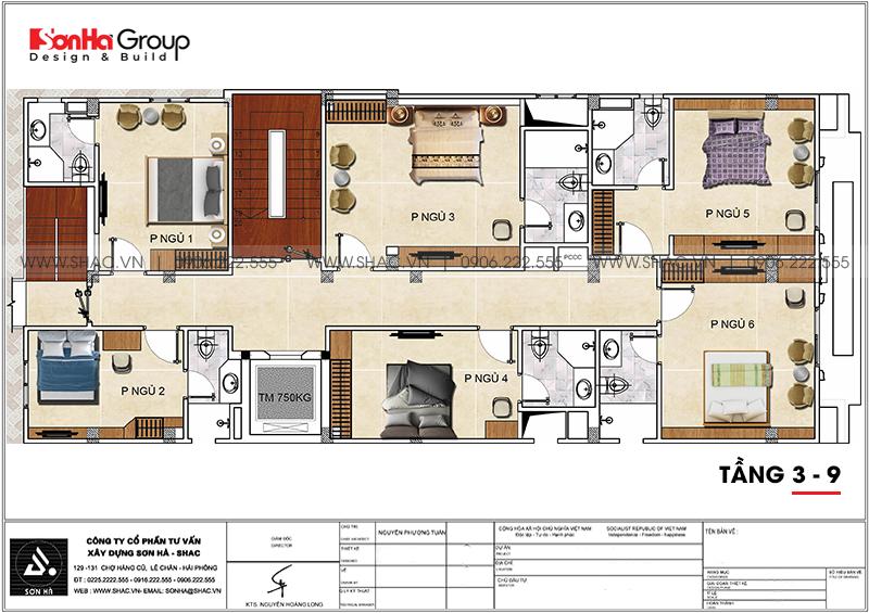 Mẫu khách sạn tân cổ điển tiêu chuẩn 3 sao tối ưu công năng tại Hải Phòng – SH KS 0088 6