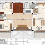 6.Mặt bằng tầng 3 biệt thự hiện đại tại Hải Phòng sh btd 0080