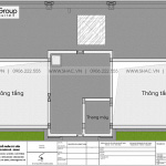 7 Bản vẽ tầng áp mái biệt thự tân cổ điển 3 tầng tại hà Gòn sh btp 0159