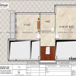 7 Mặt bằng tầng áp mái biệt thự hiện đại mặt tiền 10,3m tại Ninh Bình sh btd 0081