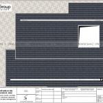 8 Bản vẽ tầng mái biệt thự hiện đại có gara tại Ninh Bình sh btd 0081
