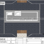 8.Mặt bằng tầng mái biệt thự hiện đại tại Hải Phòng sh btd 0080
