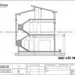 9 Bản vẽ mặt cắt biệt thự hiện đại tại Ninh Bình sh btd 0081