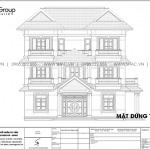 9.Thiết kế mặt đứng trụ 1 4 biệt thự hiện đại tại Hải Phòng sb btd 0080