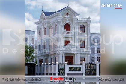 BIA Thiết kế biệt thự tân cổ điển 3 tầng đẹp tại Sài Gòn   sh btp 0159