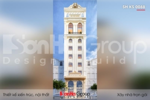 BÌA thiết kế khách sạn 3 sao 10 tầng kiểu tân cổ điển tại hải phòng sh ks 0088