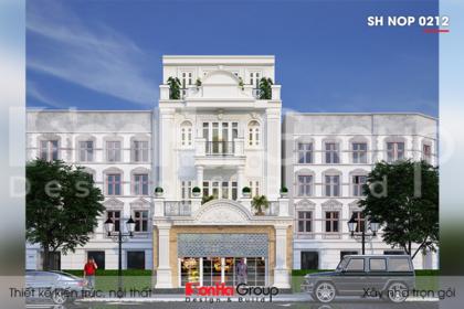 BIA Thiết kế nhà ống tân cổ điển 4 tầng tại Hà Nội   sh nop 0212