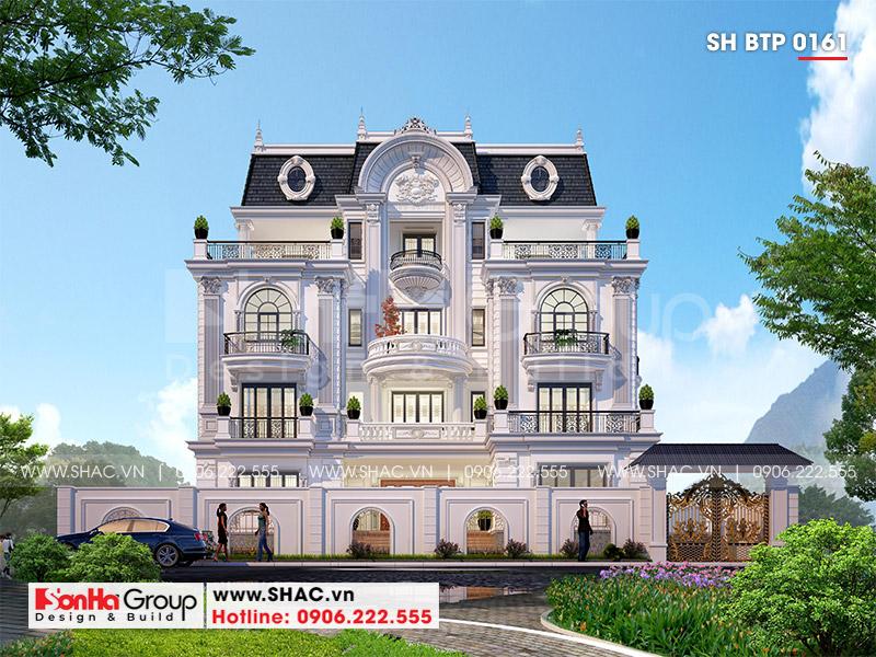 Mẫu biệt thự tân cổ điển có gara thiết kế sang trọng và đẳng cấp tại Sài Gòn