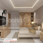 1 phòng ngủ tầng trệt gọn gàng và hiện đại của thiết kế biệt thự tân cổ điển SH BTP 0161