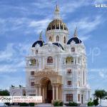 1 Thiết kế biệt thự tân lâu đài đẹp tại hải dương sh btld 0047