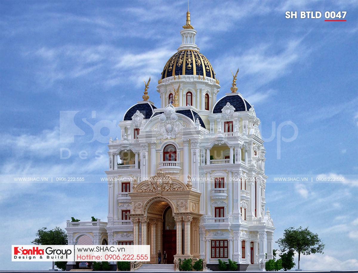 Thiết kế biệt thự lâu đài đẹp tại Hải Dương.