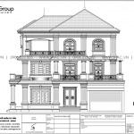 10 Thiết kế mặt cắt biệt thự tân cổ điển tại quảng ninh sh btp 0160