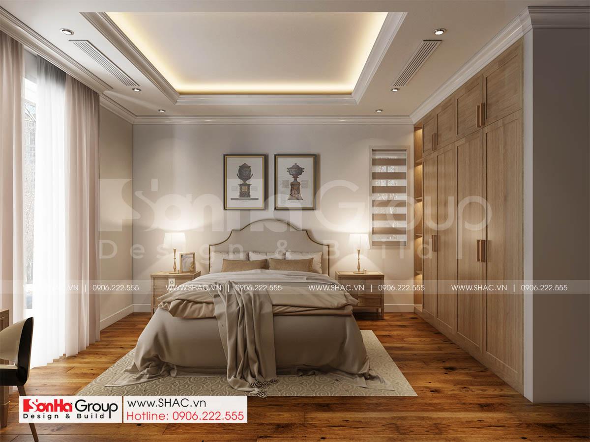 Mẫu phòng ngủ tinh tế sang trọng trong biệt thự diện tích 252m2