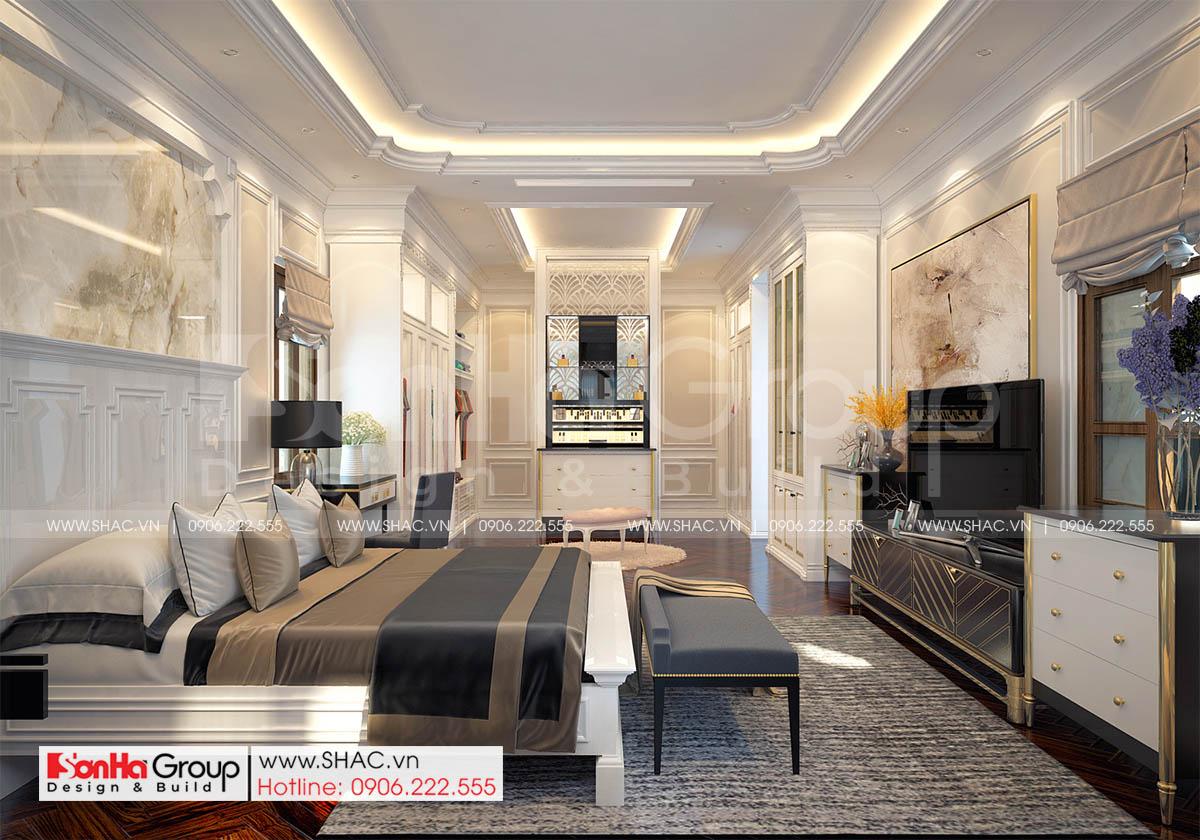 Không gian nội thất phòng thay đồ VIP biệt thự tân cổ điển sang trọng